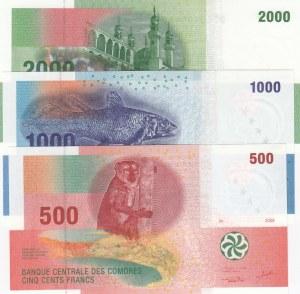 Comoros,  Total 3 banknotes