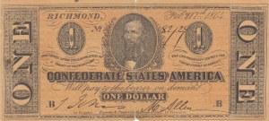 United States of America, 1 Dollar, 1864, FINE, p65b