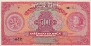 Czechoslovakia, 500 Korun, 1929, XF, p24s