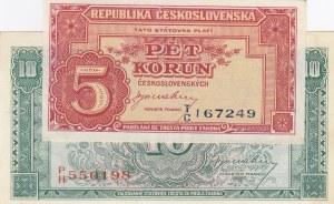 Czechoslovakia,  AUNC(-),  Total 2 banknotes