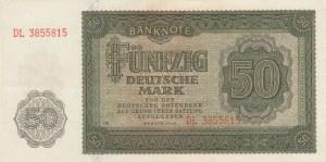 Democratic Germany, 50 Mark, 1948, AUNC, p14