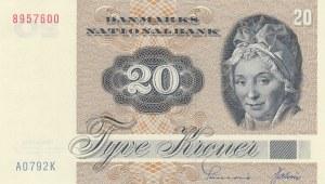 Denmark, 20 Kroner, 1972, UNC, p49a