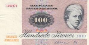 Danimarka, 100 Kroner, 1972, XF, p51a