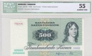 Denmark, 500 Kroner, 1988, AUNC, p52d, ICG 55