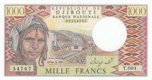 Djibouti, 1.000 Francs, 1991, UNC, p37e