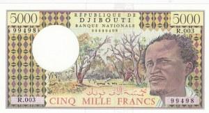 Djbouti, 5000 Francs, 1979, UNC, p38d