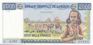 Djibouti, 2.000 Francs, 1997, UNC, p40