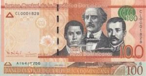 Dominican Republic, 100 Peso,  UNC,  Total 2 banknotes