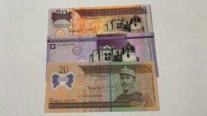 Dominican Republic,  Total 3 banknotes