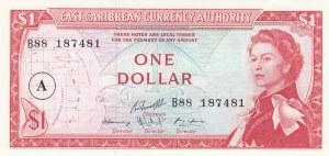 East Caribbean States, 1 Dollar, 1965, UNC, p13h