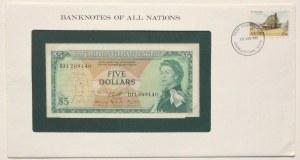 East Caribbean States, 5 Dollars, 1965, UNC, p14h, FOLDER
