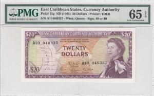 East Caribbean States, 20 Dollars, 1965, UNC, p15g