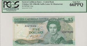East Caribbean States, 5 Dollars, 1986-88, UNC, p18m