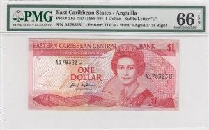 East Caribbean States, 1 Dollar, 1988/1989, UNC, p21u