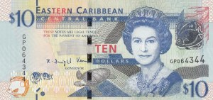 East Caribbean States, 10 Dollars, 1994, UNC, p32