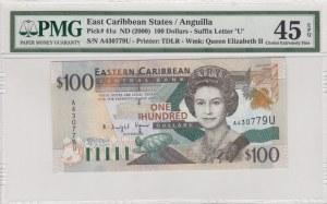 East Caribbean States, 100 Dollars , 2000, XF, p41u