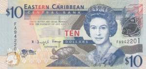 East Caribbean States, 10 Dollars, 2012, UNC, p52a