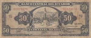 Ecuador, 50 Sucres, 1966, FINE, p116c