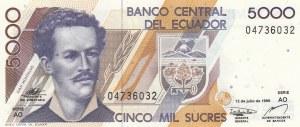 Ecuador, 5.000 Sucres, 1999, UNC, p128c