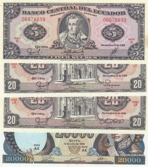 Ecuador,  Total 4 banknotes