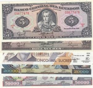 Ecuador,  Total 5 banknotes