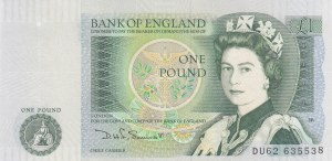 Great Britain, 1 Pound, 1981/1984, UNC, p377b