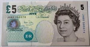 Great Britain, 5 Pounds, 2004, UNC, p391c
