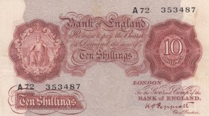 Great Britain, 10 Shillings, 1934, VF,