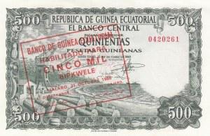Equatorial Guinea, 5000 Bipkwele on 500 Pesetas, 1980(1969), UNC, p19