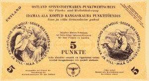 Estonia, 5 Punkte, 1943, UNC, pS03c