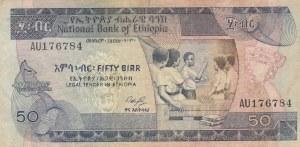 Ethiopia, 50 Birr, 1976, VF, p33c