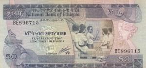 Ethiopia, 50 Birr, 1991, VF, p44c