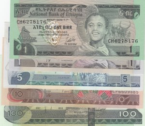 Ethiopia,  Total 5 banknotes