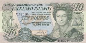 Falkland Islands, 10 Pounds, 1986, UNC, p14a
