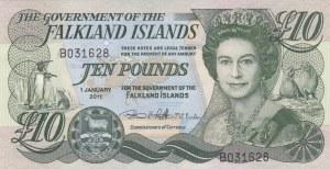 Falkland Islands, 10 Pounds, 2011, UNC, p18