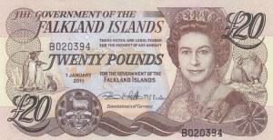 Falkland Islands, 20 Pounds, 2011, UNC, p19