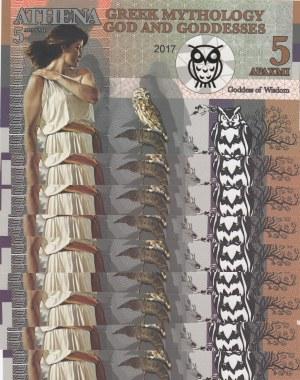 Fantasy Banknotes, 5 Drahmis(9), 2017, UNC,