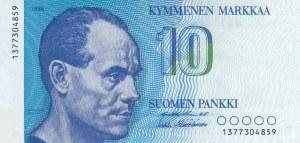 Finland, 10 Markkaa, 1986, UNC, p113