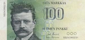 Finland, 100 Markkaa, 1986, XF, p115