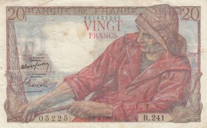 France, 20 Francs, 1950, VF, p100d