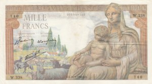 France, 1.000 Francs, 1942-1944, XF, p102