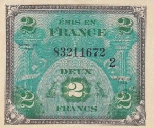 France, 2 Francs, 1944, UNC, P114