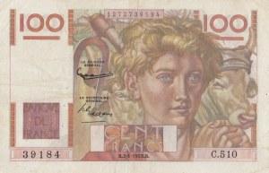 France, 100 Francs, 1953, VF / XF, p128e