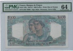 France, 1.000 Francs, 1945-47, UNC, p130a