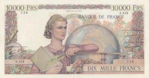 France, 10.000 Francs, 1945/56, XF, p132a