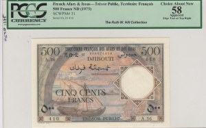 French Afars and Issas, 500 Francs, 1973, AUNC, p31