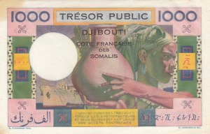 French Afars and Issas, 1.000 Francs, 1974, UNC, p32
