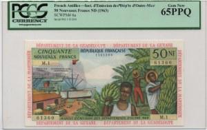 French Antilles, 50 Nouveaux Francs, 1963, UNC, p6a