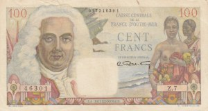 French Equatorial Africa, 100 Francs, 1947, XF, p24