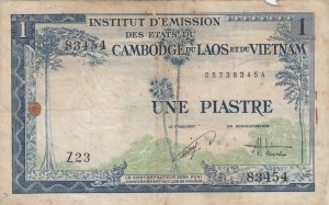 French Indo-China, 1 Piastre, 1954, FINE, p105